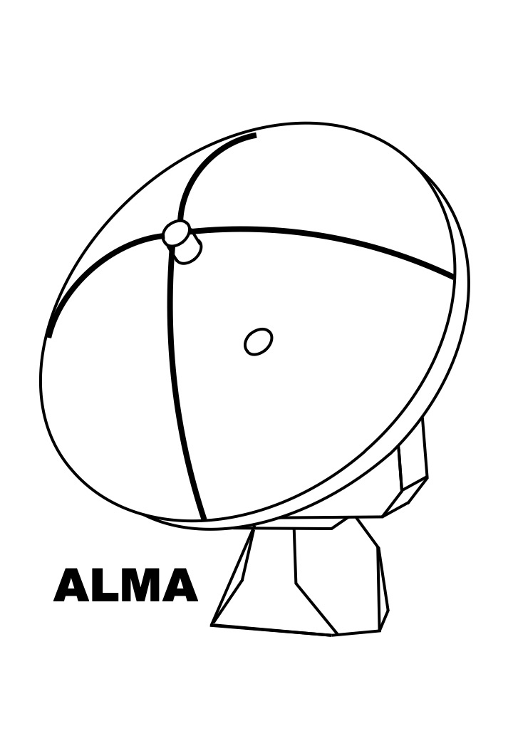 ALMA (single antenna) colouring sheet