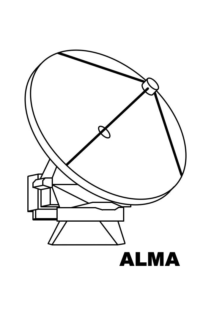 ALMA (single antenna) colouring sheet