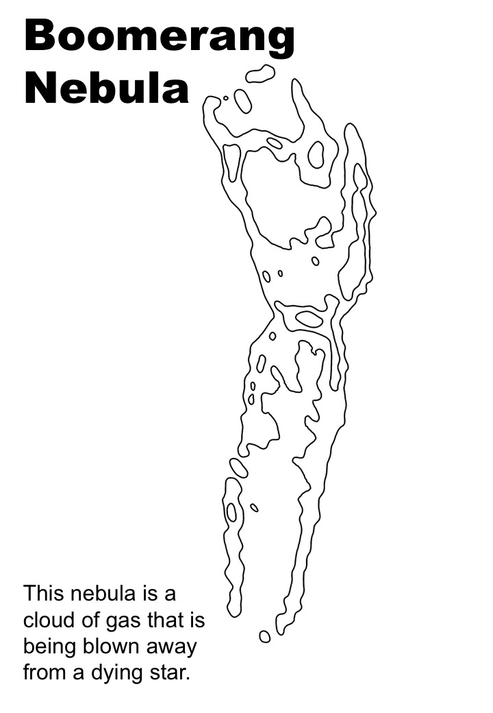 Boomerang Nebula colouring sheet