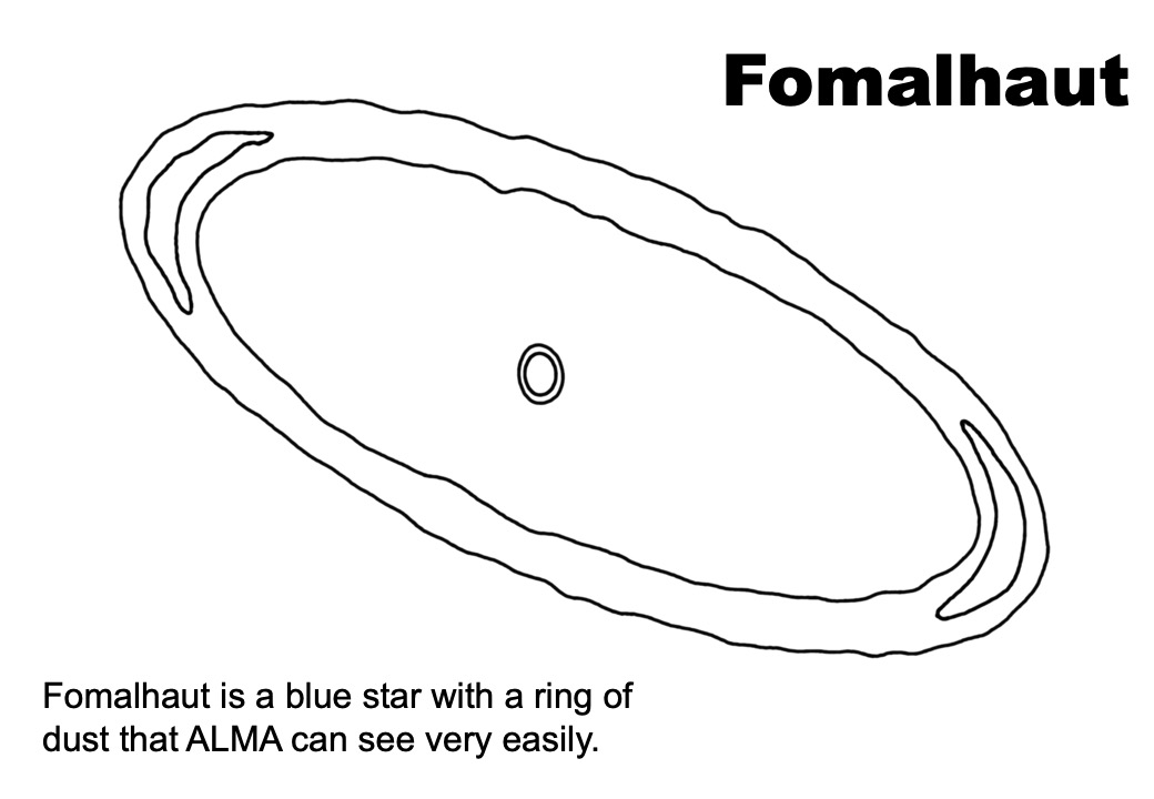 Fomalhaut colouring sheet